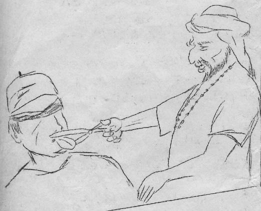 Caricature de la revue Itij que Smaïl Medjber publiait clandestinement dans les années 1970.