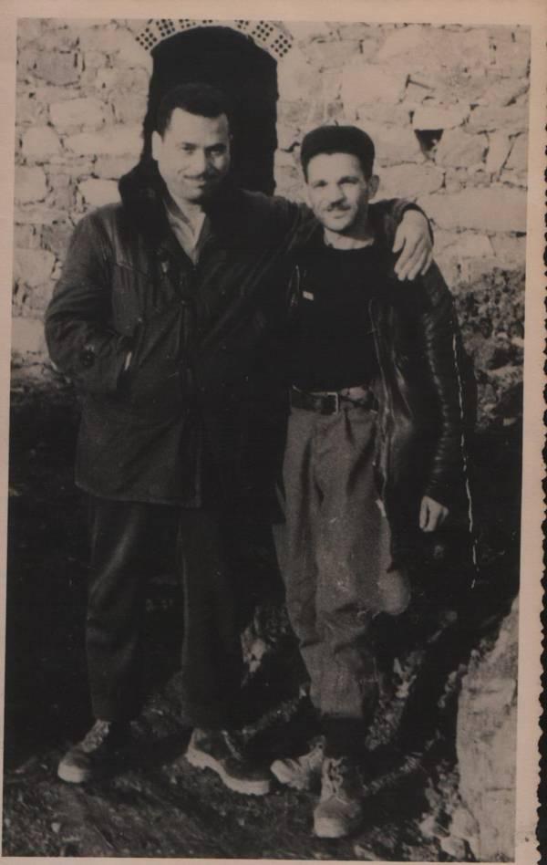 Le colonel Ouamrane avec Si Lmouloud