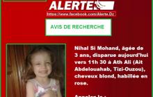 Alerte disparition. Nihal, 4 ans, disparue depuis jeudi à Aït Toudert
