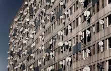 Campagne d'élimination des paraboles sur certains immeubles d'El Mohammadia (Alger)