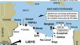 Libye: la coalition se prépare à attaquer la logistique de l'armée de Kadhafi, un bâtiment administratif détruit