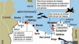 Libye: la coalition bombarde un fief de Kadhafi, les violences continuent