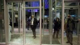 Québec: vitrine brisée à la fin de la marche nocturne