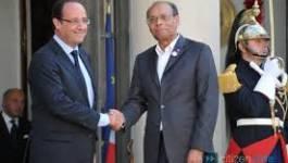Tunisie : le président Moncef Marzouki reçu par François Hollande