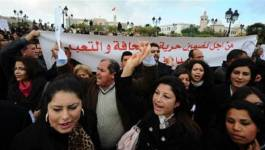 Tunisie: manifestation de journalistes
