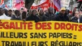 France : manifestation pour la régularisation des sans-papiers