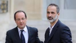 François Hollande reçoit le chef de l'opposition syrienne