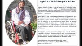 Appel à la solidarité pour Yacine Mettouk
