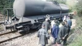 Un wagon citerne déraille à Skikda : 30.000 litres de gasoil dans la nature