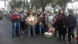 Rassemblement devant l'ambassade de Tunisie à Alger