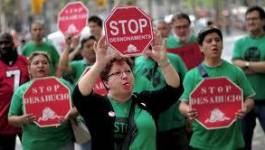 Espagne : manifestations pour mettre fin aux expulsions