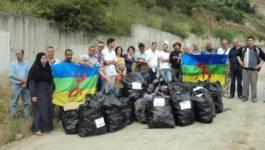 12e anniversaire du MAK : nettoyage des alentours du barrage de Taksebt