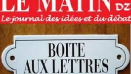 La présidente de France-Algérie Méditerranée nous écrit