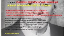 Devoir de mémoire : hommage à Rahmani Slimane à Aokas