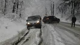 Chutes de neige à Batna : de nombreuses routes fermées