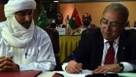 La CMA paraphera l'accord de paix d'Alger