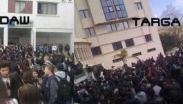 Bejaïa : des centaines d'étudiants manifestent contre Bouteflika