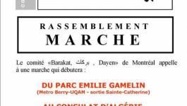Marche du Mouvement Barakat à Montréal samedi
