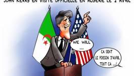 John Kerry en visite à Alger