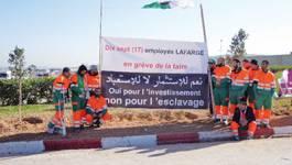 Les grévistes de la faim devant le siège de Lafarge à Alger