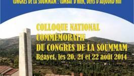 Colloque sur le congrès de la Soummam, les 20, 21 et 22 août