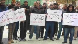Le sit-in de la colère à Tiaret