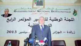 Le RND est pour un quatrième mandat de Bouteflika