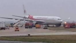 Un avion d'Air Algérie sort de la piste à Orly Sud