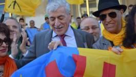 """Ferhat Mehenni : """"Nous avons fait ce drapeau par respect pour nos enfants"""""""