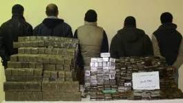 Six quintaux de kif traité saisis et cinq personnes arrêtés à El-Oued