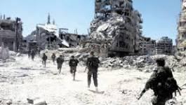 L'armée syrienne lance une contre-offensive de l'armée au nord-ouest