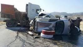 Batna : 5 personnes d'une même famille succombent dans un accident de la circulation