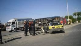 Batna : 5 personnes gravement blessées dans un accident de la circulation