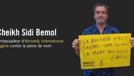 Cheikh Sidi Bemol, ambassadeur d'Amnesty International Algérie contre la peine de mort