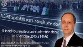 Conférence publique de Soufiane Djilali samedi à Paris