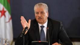 Abdelmalek Sellal se fait le porte-voix du président Bouteflika