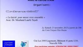 Coin citoyen Tizi-Ouzou: conférence débat sur la laïcité