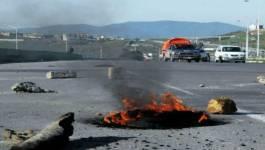 Protestation des habitants de la région ouest de la wilaya de Batna