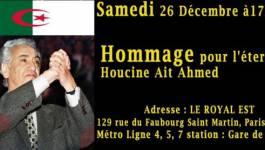 Des militants associatifs renderont, samedi à Paris, un hommage à Aït Ahmed