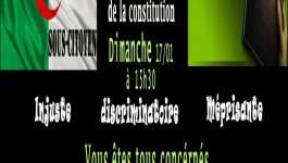 Conférence sur le retrait l'article 51 de l'avant-projet de la Constitution dimanche