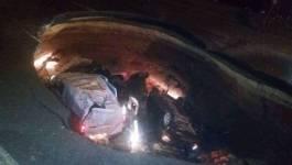 Chute spectaculaire de plusieurs voitures dans un cratère à Ben Aknoun (actualisé)