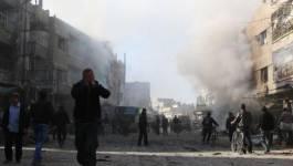 Des explosions sur la base militaire de Mazzé, près de Damas (Syrie)