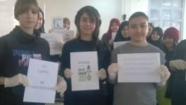 Acte citoyen au Campus universitaire de Beni Messous (Alger)