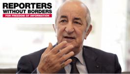 Situation de la liberté de la presse en Algérie : RSF saisit Tebboune