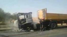 Terrible accident à Ain Defla : le chauffeur brûlé vif