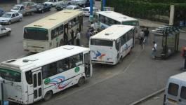 Grève des transporteurs privés d'Alger