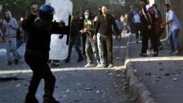 Protestation des jeunes employés du DAIP  à Arzew