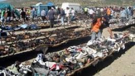 Les marchands de la friperie protestent devant la wilaya d'Oran