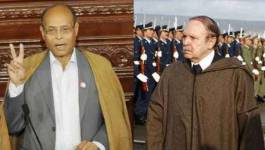 Bouteflika au côté de Marzouki et Abdeljallil à Tunis