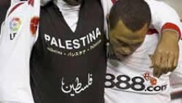 Kanouté affiche en plein match son soutien aux Palestiniens